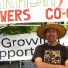 Craig from the Farmship Growers Co-op at the Nanaimo Downtown Farmers Market.